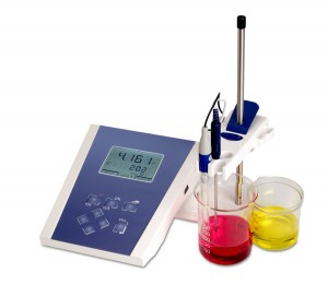 pH analysis isolated by laboratory equipment
